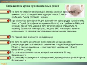 Как рассчитать дату родов по первому шевелению