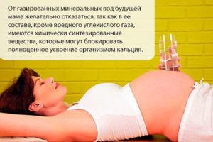 Можно ли беременным пить минеральную воду с газом