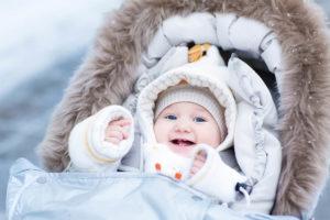 Сколько гулять зимой с грудничком
