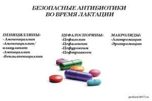 Можно ли принимать антибиотики во время грудного вскармливания