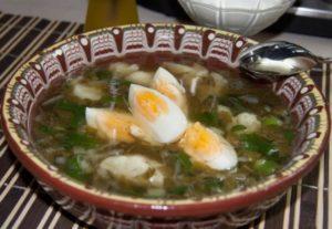 Щавелевый суп при гв
