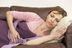 При климаксе болит живот как перед месячными