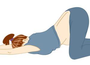Коленно локтевое положение при беременности как правильно делать