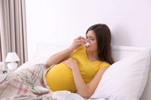 Как чихать при беременности