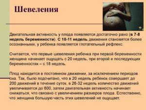 Шевеления плода третья беременность
