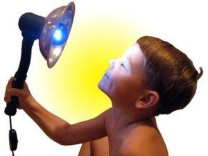 Синяя лампа для носа