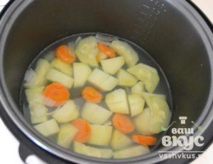 Овощи на пару в мультиварке для грудничка