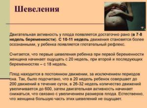 Активные шевеления плода на 30 неделе беременности