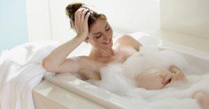 При какой температуре можно купаться беременным в ванной