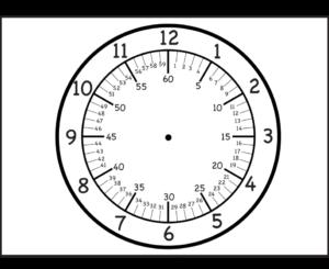 Распечатать часы для обучения детей