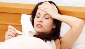 При беременности температура 37 и болит горло