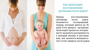 Через какое время полностью восстанавливается организм после родов