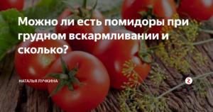 Можно ли кормящей маме помидоры в первый месяц