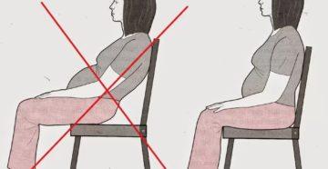 Как нельзя сидеть беременной